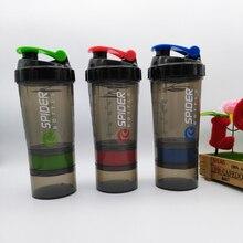 Protein Shaker Mixer Mixer Cup Sport Fitness-studio 3 Schichten Multifunktions 600 ml bpa-frei Shaker 1 stück