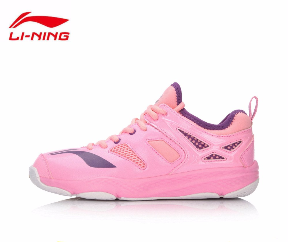 BIG SALE Li-Ning Women Badminton Shoes Li Ning Anti-Slippery Outdoor Sports Brand Sneakers Zapatillas Deportivas Mujer AYTM014 2017 original kawasaki badminton shoes men and women zapatillas deportivas anti slippery breathable for lover