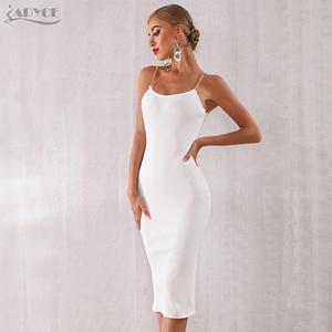 Image 5 - Adyce 2020 nouveau été femmes moulante robe de pansement Sexy chaîne Spaghetti sangle Club robe célébrité soirée robes de soirée Vestidos
