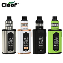 Original Eleaf Invoke Kit 220W E Cigarettes Invoke Box MOD Vape and ELLO T Atomizer Fits HW1 Coil Vaper Vaporizer
