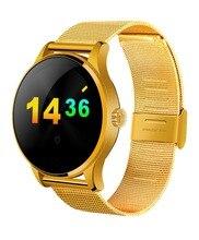 K88H Smart Uhr 1,22 Zoll IPS Runden Bildschirm Unterstützung Pulsmesser Bluetooth smartWatch Für apple huawei IOS Android
