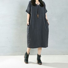 Vintage Casual Loose Short Sleeved Pregnancy Dress