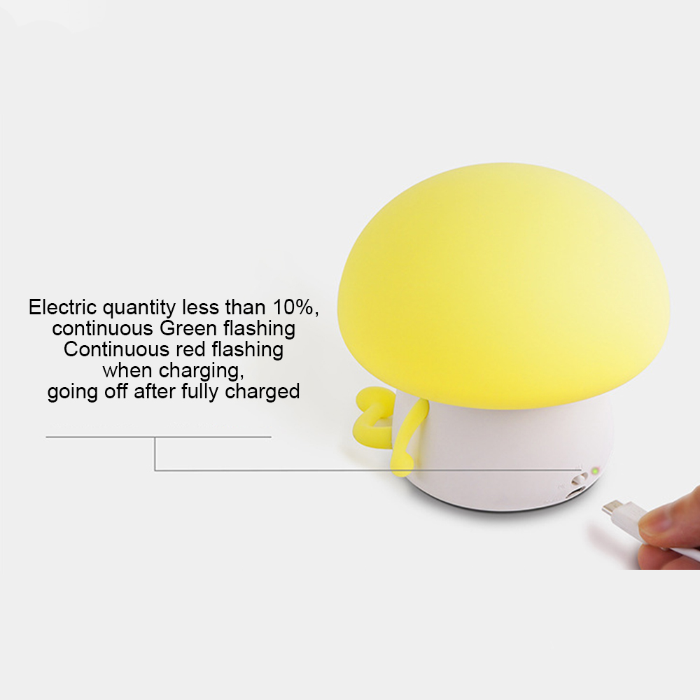 LED Night Light Q Kid LED Night Lamp Built-in 1200mAh Battery Children Pat Lamp and Home Decoration