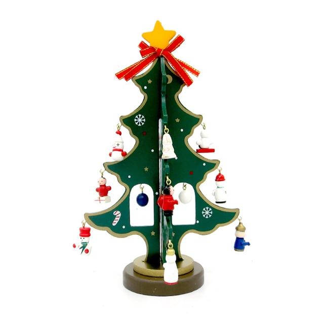 Navidad decoración madera Navidad árbol partido Adornos Navidad ...