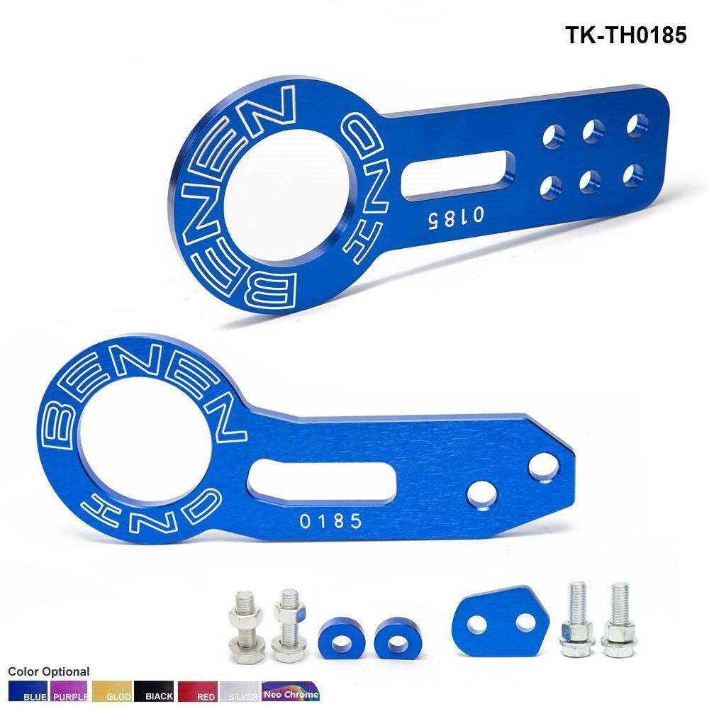Eloxiert Universal Vorne + Hinten Tow Haken Billet Aluminium Abschleppen Kit Für jdm Racing TK-TH0185