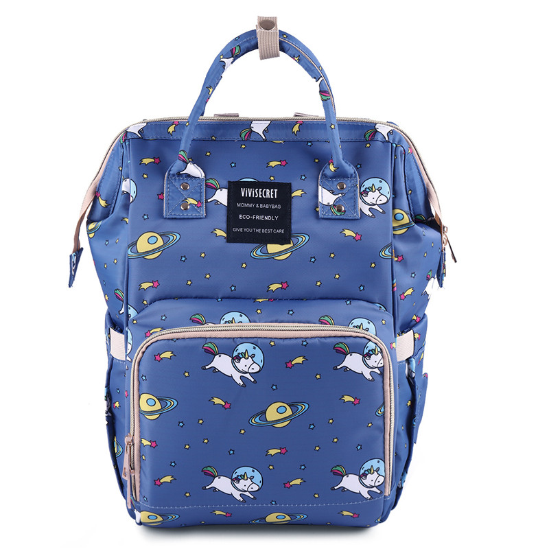 New Fashion Baby Diaper Bags Bottle Insulation Bags Unicorn Printed Mummy Bag Multi-Function Large Capacity Waterproof Backpack