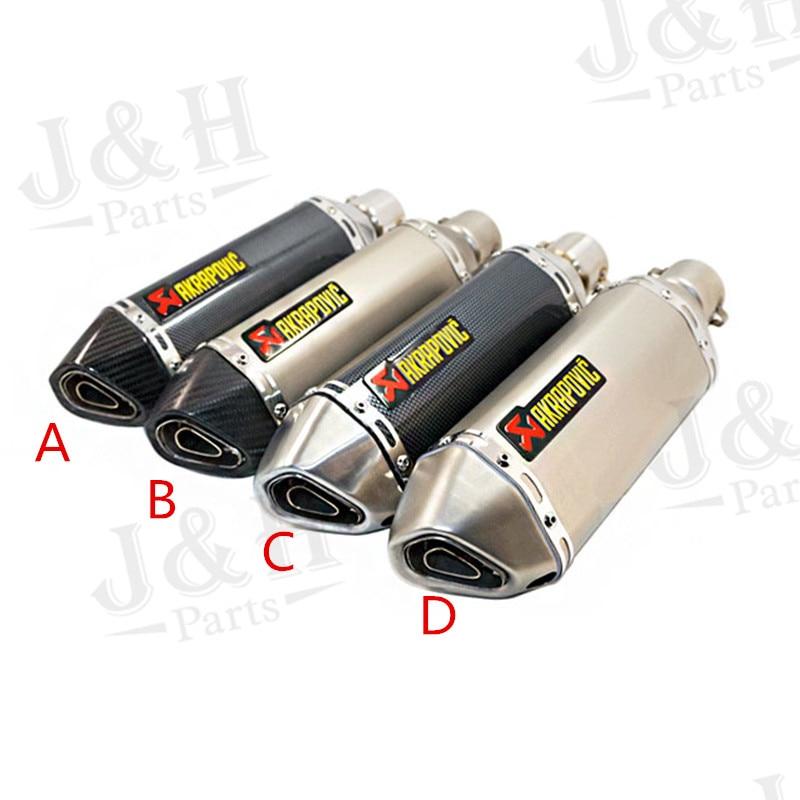 ФОТО Akrapovic Carbon Fiber Head Motorcycle Exhaust Pipe Muffler MAK51A-03 CBR CB400 CB600 CBR1000 Z750 Z800 Z1000 ER6N