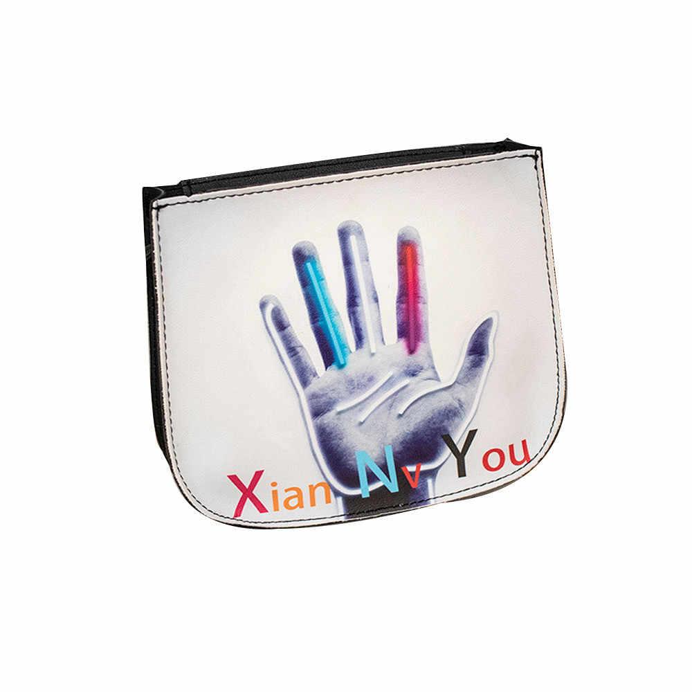 2018 Gaya Baru Wanita Mini Bulat Tas Selempang Wanita Printing PU Kulit Tas Bahu Hutan Hijau Girls Messenger Tas (25