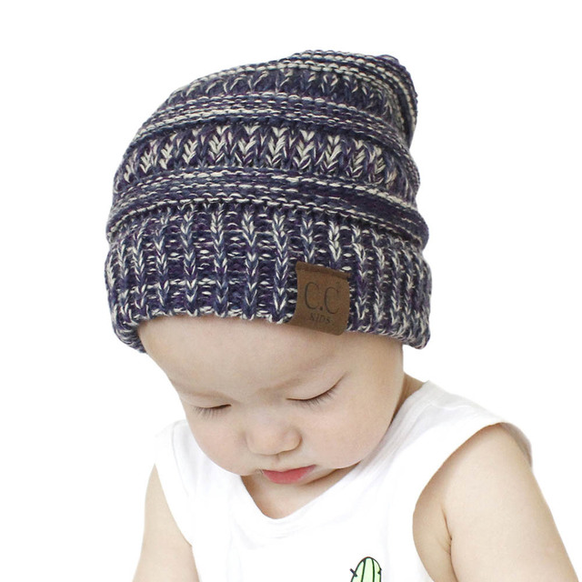 2018 baby CC Mixed Winter knitting Hat For Children Warm Cap Girls Slouchy  Beanie Caps Boys Cute Knitted Hats Casual Cap f327f2b4eb1