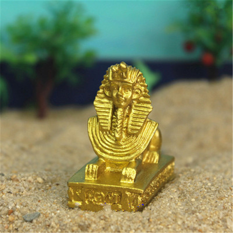 Diligent Wholesale 200pcs/lot Egypt Human-face Beast Body Sphinx Psychological Sand Table Accessories Resin Craftwork Decoration G1429 And To Have A Long Life. Action & Toy Figures
