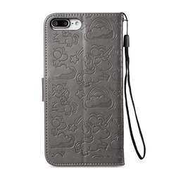 Luxury Flip Case For iPhone 6 6S 7 8 Plus Printed PU Leather Card Slot Wallet Stand Cover CASE iphone 6+ 6s+ 7+ 8+ embossed case 2