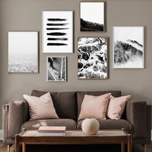 Nordic Decoration Forest Mountain Palm Leaf Wall Art Canvas Painting Posters and Prints Pictures for Living Room Home Decor