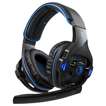 b86dd8e2910 SADES SA-903 Gaming Headphones 7.1 USB PC Headset Deep Bass With LED  Micphone For Games Player
