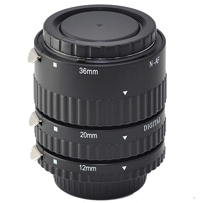 Tube d'extension automatique en métal AF pour Nikon D850 D750 D610 D500 D810 D800 D7500 D7200 D7100 D7000 D90 DSLR