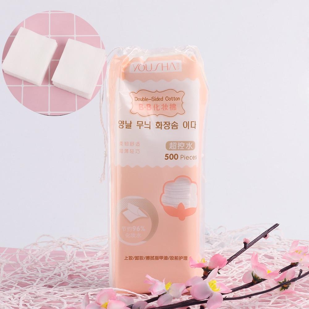 500Pcs/Bag Korean Facial Organic Cotton Pads Facia