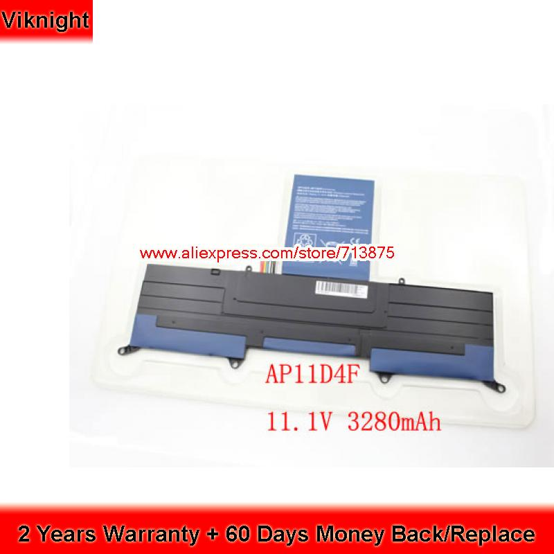 Laptop Battery 3ICP5/65/88 For Acer Aspire C720 Aspire S3 Ultrabook 13.3 AP11D4F AP11D3F S3-951 S3-391 MS2346 3ICP5/67/90 клавиатура ноутбука для acer c720 3404 chromebook gr немецкий черный 9z nbrsc a0g