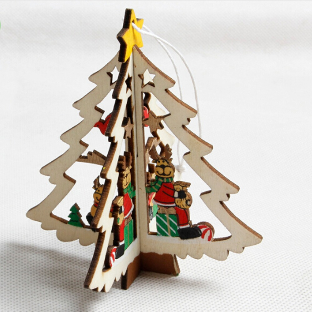 wooden five star christmas tree christmas bell hanging festival party garden ornament christmas tree ornaments home decor in pendant drop ornaments from
