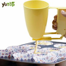 YOTOP Handle Cake Making Helper Cup Pastry Meatball Handheld Batter Dispenser Maker Bakeware Tools