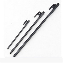 100pcs 40cm Outdoor Camping Stainless Steel Tent Pegs Tent Stake