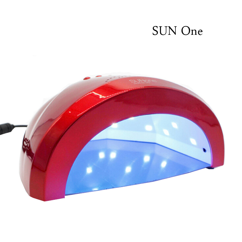 HCB-1 SUN ONE 48W UVLED White/Red Light Nail Dryer LED Nail Lamp Gel Nail Polish Dryer Fingernail Toenail Gel Curing Nail Art nail dryer