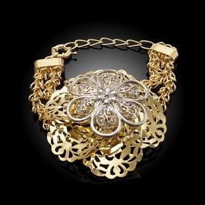 Image 4 - Yulaili Pageantry نمط الزخرفية تصميم الأزياء أطقم مجوهرات دبي زهرة كبيرة شكل قلادة قلادة أقراط سوار خاتم