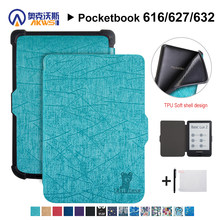 Wandelaars Cover case voor Pocketbook 616/627/632 E-reader Cover Case voor Pocketbook Basic Lux 2 /touch Lux/touch HD 3 + gift(China)