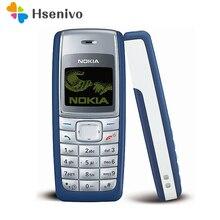1110 Оригинальный Мобильный телефон Nokia 1110 1110i мобильный телефон разблокированный дешевый старый классический мобильный телефон гарантия 1 год Восстановленное