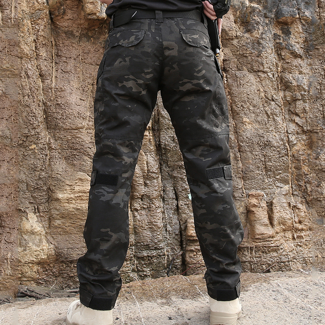 Army Combat Waterproof Pants Multi Pockets Wear Proof Casual Camo Trousers