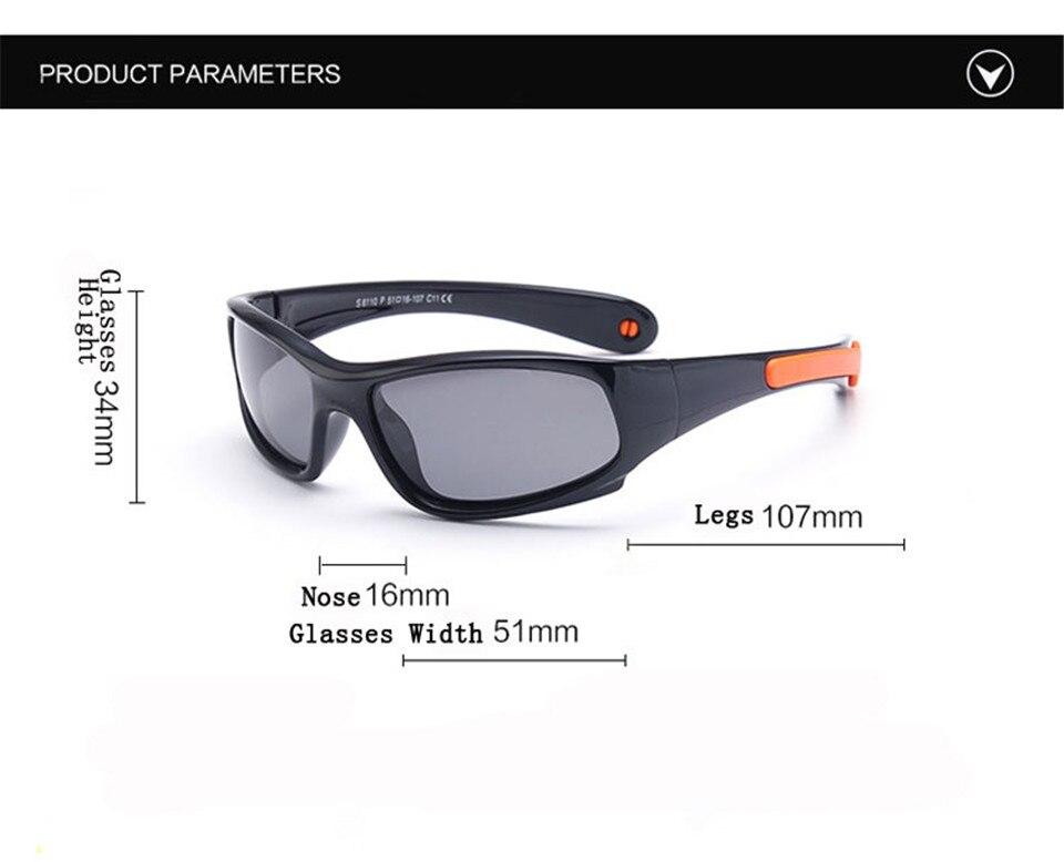 No easily broken Kids TR90 Polarized Sunglasses Children Safety Brand Glasses Flexible Rubber Oculos Infantil (12)