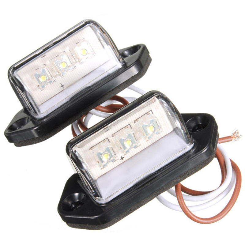 Truck Replacement Bulbs LED 2pcs License plate lights 10 30V Waterproof Lamps Accessories ABS Shockproof Durable in Truck Light System from Automobiles Motorcycles