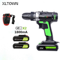 XLTOWN 25V electric drill multi function rechargeable electric screwdriver household power tools household electric drill