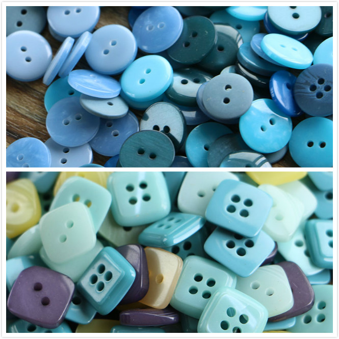0.6/'/' Wood Button Cloth Sewing Diy Craft Embelishment Mix Lots 15mm