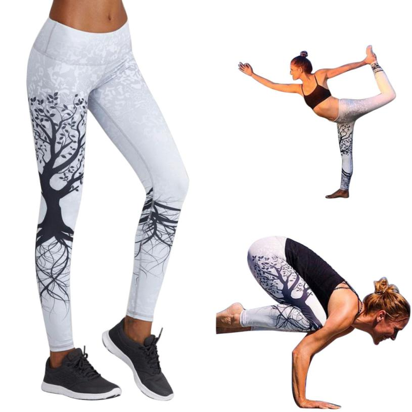 Low Price Yoga Pants Women Printed Sports Yoga Workout Gym