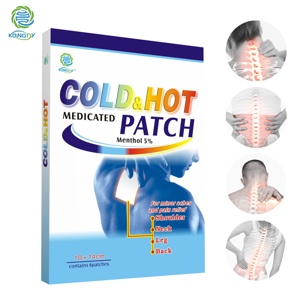 KONGDY 6Pcs Gel Pain Plaster Effective Relieve Muscle&Joint Pain Patch Safe Cold Compress Patch Comfort Gel Cooling Pain Sticker