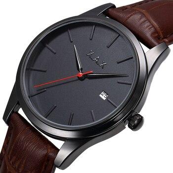 2 lata gwarancji Drop wysłane męskie zegary czarny zegarek na rękę zegarki wodoodporny. Relojes czarny okno daty