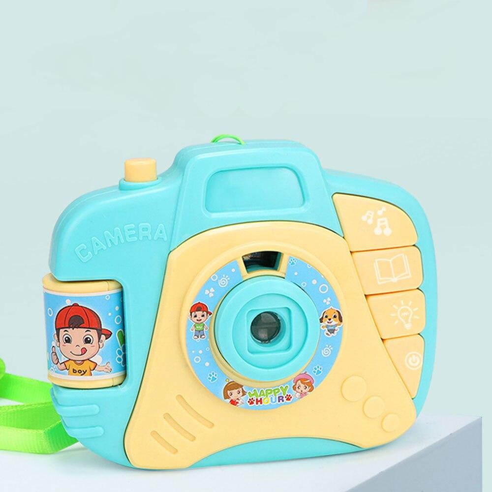 Проекционная камера история машина камера игрушка многоцветный электрический пластик музыка обучающая игрушка хобби исследование мульти-функциональный дети - Цвет: blue