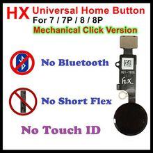 10 قطعة HX 3rd الجيل ل فون 7/7 P/8/8 زائد 8 P الميكانيكية انقر النسخة العالمي المنزل زر الكابلات المرنة 4 ألوان