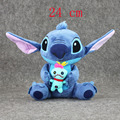 Hot sale 24cm anime Sitting Style Lilo and Stitch Scrump in hand Plush Toy Soft Stuffed Animal Doll