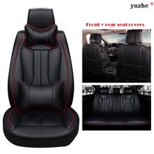 Yuzhe Universal asiento De Cuero cubre Para Volkswagen vw passat b5 b6 polo 4 5 6 7 golf tiguan b7 jetta touareg coche accesorios