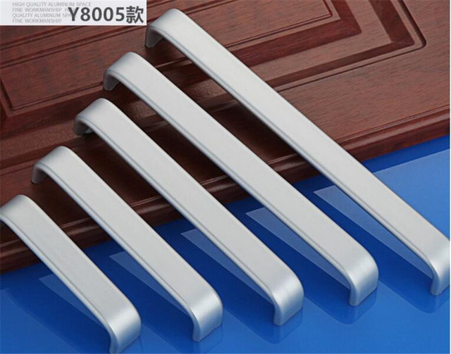 4pcs Wide Aluminum Alloy Handles Cabinet Drawer Knobs Wardrobe Door Handles Closet  Pulls Hole Distance 96mm