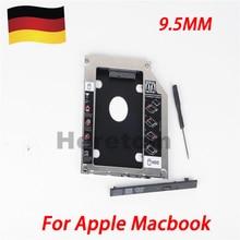 DE Shipping Aluminum Hard Drive Caddy Tray 2.5″/9.5mm 2nd SATA HDD SSD Kit for Apple Unibody MacBook