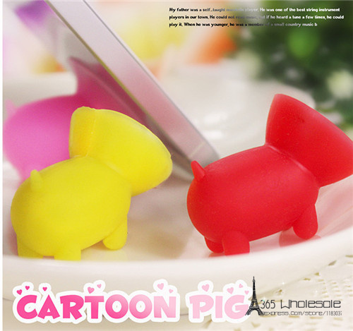 Cute pig Silicone phone rack holder 50pcs - 2