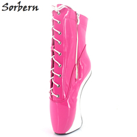 Sorber Women Boots Super High Heels 2018 Fashion Ballet Red Shoes Woman Party Cross tied Ankle Boots Woman Shoes