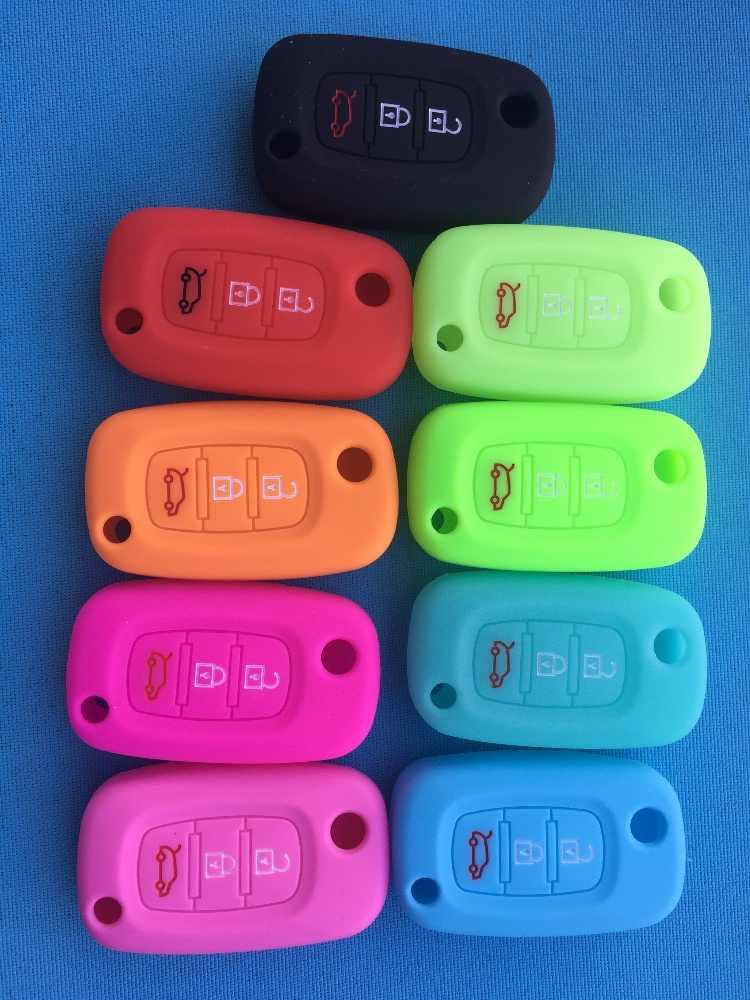 3 pulsante di Caso Della Copertura Del Silicone di Chiave Dell'automobile Per Lada Borsette Per Renault Twingo Clio Maestro Kango Adatto Per Benz Smart vibrazione a distanza no logo