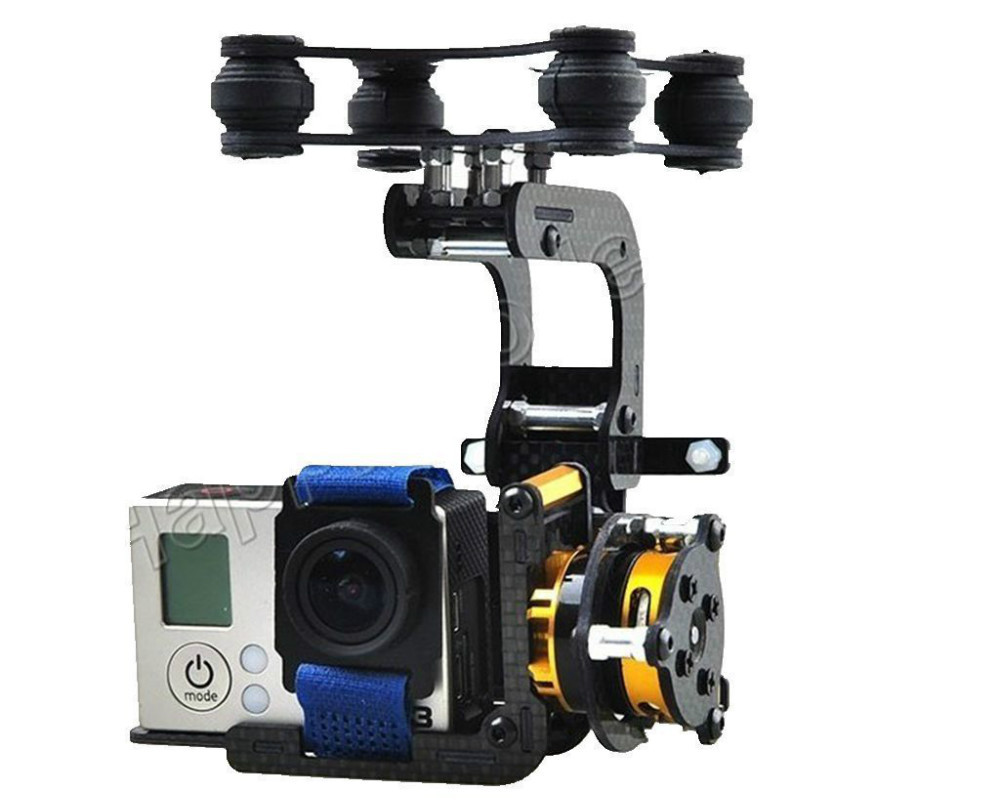 2014 Newest FPV Carbon Brushless Gimbal Camera w/ Motor Controller for  Phantom Gopro 3 +Free shipping ipower brushless gimbal motor gbm8017 for red epic black magic camera professional fpv