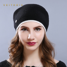 VEITHDIA Women'S Hats Knitted Wool Autumn Winter Casual High Quality Brand New 2018 Hot Sale Flange Hat Female Skullies Beanies