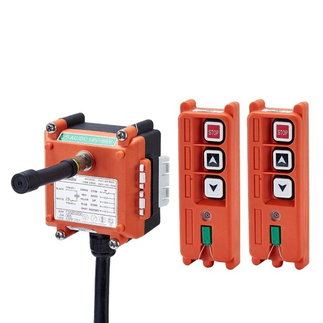 TELECRANE יחידת אלחוטי תעשייתי מרחוק בקר מנוף חשמלי שלט רחוק 2 משדר + 1 מקלט F21 2S