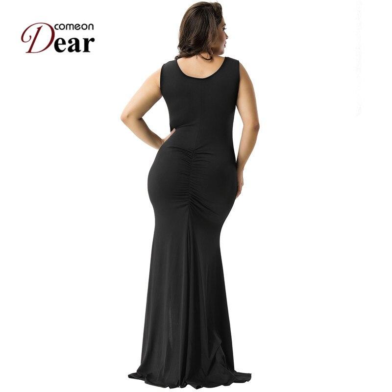 Comeondear VA1066 Kvinnors svarta partiklänningar Casual o-ringad - Damkläder - Foto 3