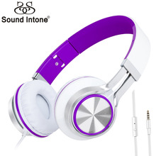 Sound Intone HD200 On-ear Headphone with Microphone  Headset for iPhone Android Smartphones,Laptop for Girls Gift