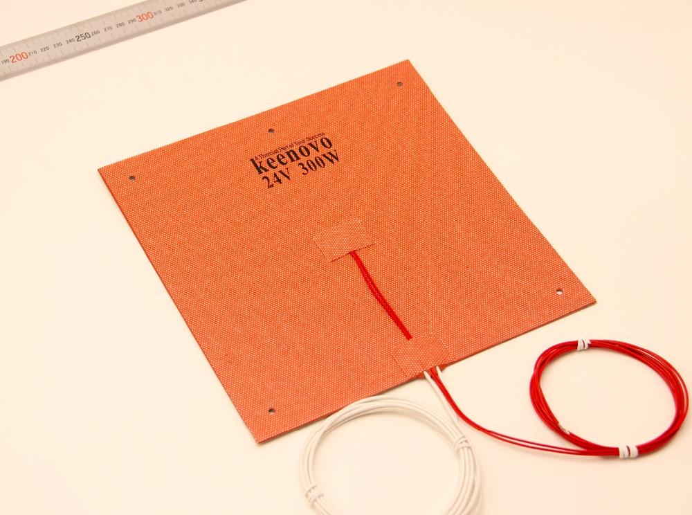 Keenovo Chauffe Silicone 245X245mm 300W @ 24 V pour Ultimaker Clone CL260 3D Imprimante Chauffée Lit, construire Plaque Chauffage Élément